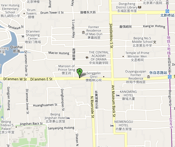 Map of Baguobuyi Restaurant Beijing